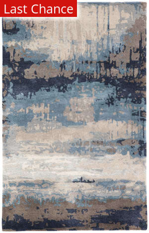 Rugstudio Sample Sale 196443R Blue - Gray Area Rug
