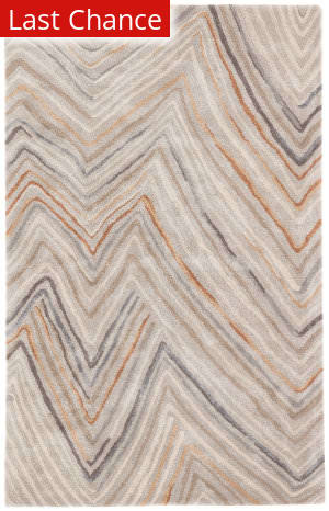 Rugstudio Sample Sale 196390R Orange - Gray Area Rug