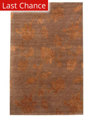 Rugstudio Sample Sale 53395R Dark Brown Area Rug