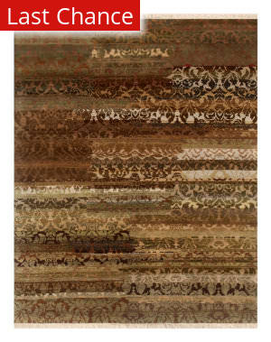 Rugstudio Sample Sale 79209R Beige / Apple Green Area Rug