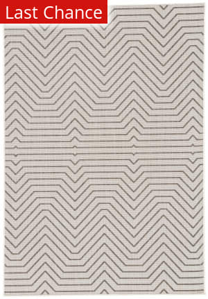 Rugstudio Sample Sale 181520R Light Gray - Black Area Rug