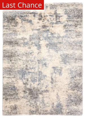 Rugstudio Sample Sale 204793R Light Gray - Blue Area Rug