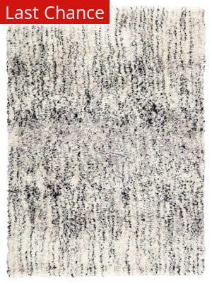 Rugstudio Sample Sale 204798R White - Black Area Rug