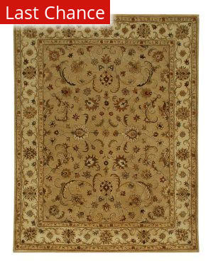 Rugstudio Sample Sale 53521R Dark Sand/Cloud White Area Rug