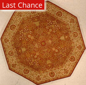 J. Aziz Shah Abbas 1604 Rust / Ivory Area Rug