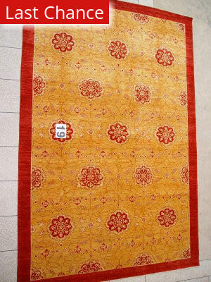 J. Aziz Peshawar Novelty Gold- 86900 Area Rug