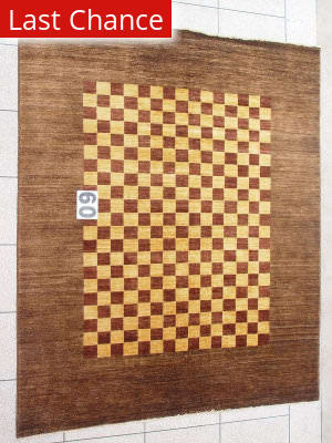 J. Aziz Peshawar Novelty Brown- 86886 Area Rug