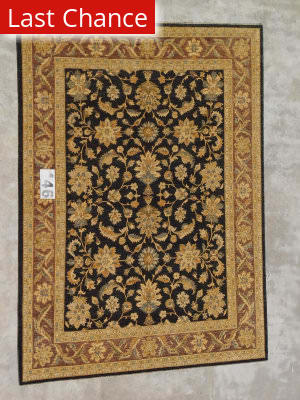 J. Aziz Peshawar Ult-138 Black-Brown 86952 Area Rug
