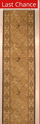 J. Aziz Shah Abbas 128 Brown Area Rug