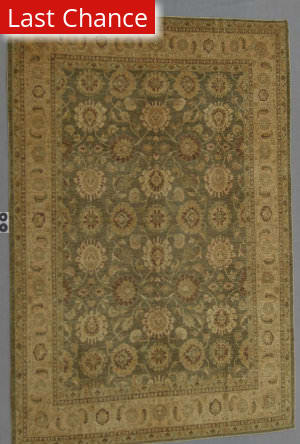 J. Aziz Peshawar Ult-137 Green-LtBrown 86949 Area Rug