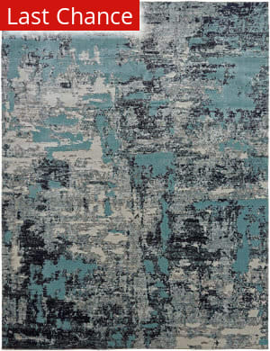 Rugstudio Sample Sale 204967R Aqua - Zinc Area Rug