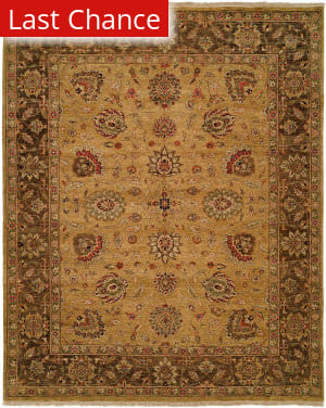 Rugstudio Sample Sale 173867R Gold - Brown Area Rug