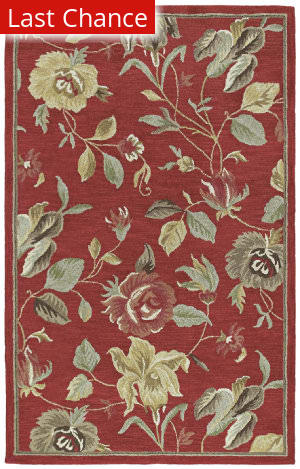 Rugstudio Sample Sale 24190R Red 25 Area Rug