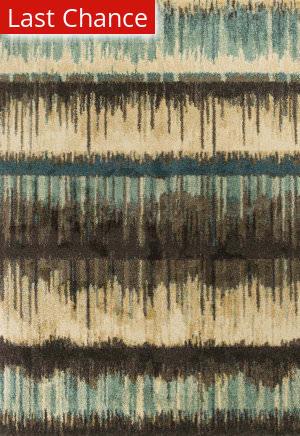 Rugstudio Sample Sale 179594R Sand-Teal Area Rug