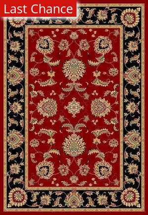 Rugstudio Sample Sale 30973R Red-Black 7342 Area Rug