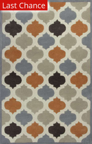 Rugstudio Sample Sale 88996R Ivory / Spice Area Rug