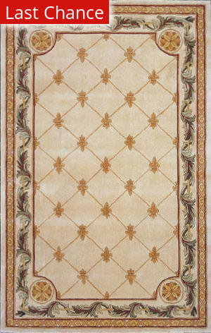 Rugstudio Sample Sale 11836R Antique Ivory 310 Area Rug