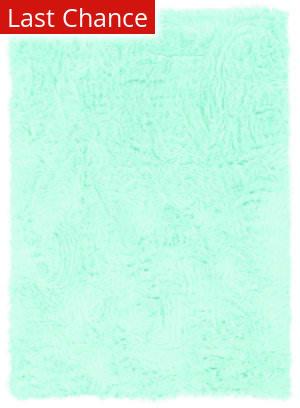 Linon Faux Sheepskin 71246 Blue Area Rug