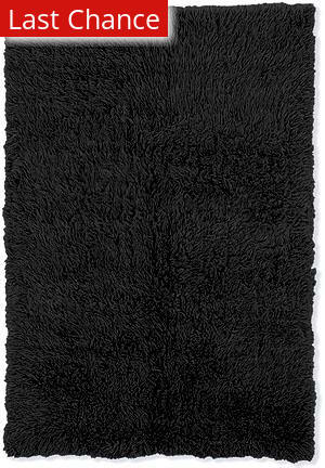 Linon New Flokati 1400 Grams Black Area Rug