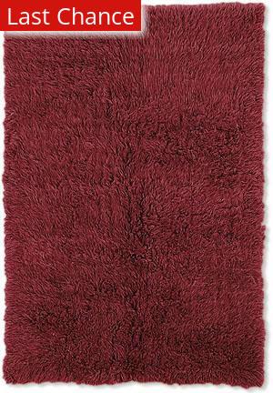 Linon New Flokati 1400 Grams Red Area Rug