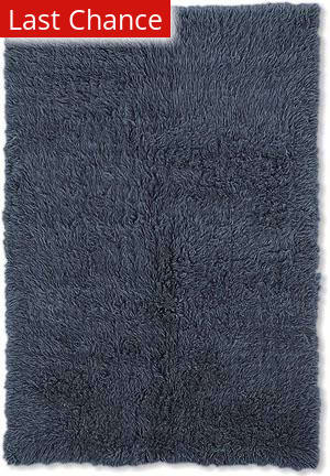 Linon New Flokati 1400 Grams Denim Blue Area Rug