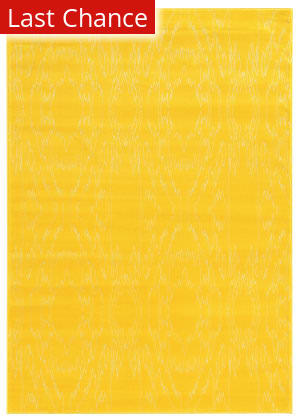 Linon Prisma Pa08 Yellow - White Area Rug