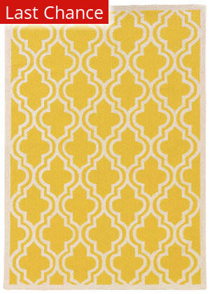 Linon Silhouette Sh12 Yellow Area Rug