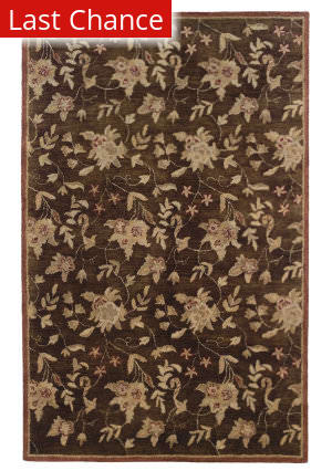 Linon Ashton Slsg40 Chocolate / Brick Area Rug