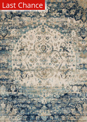 Rugstudio Sample Sale 125625R Blue - Ivory Area Rug