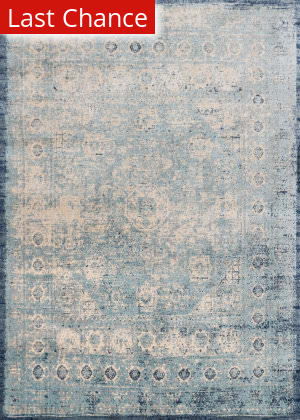 Rugstudio Sample Sale 146336R Light Blue - Ivory Area Rug