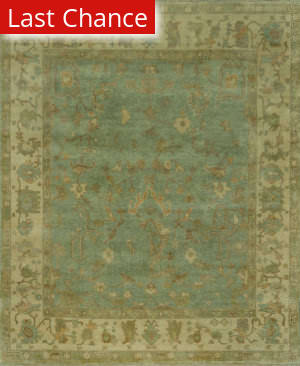 Rugstudio Sample Sale 53989R Aqua - Ivory Area Rug