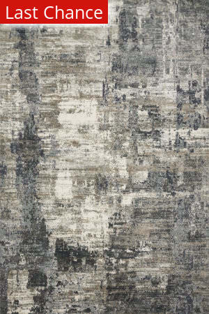 Rugstudio Sample Sale 192347R Ivory - Charcoal Area Rug