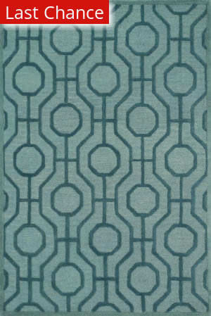 Rugstudio Sample Sale 113375R Aqua / Teal Area Rug