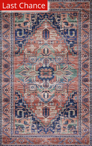 Rugstudio Sample Sale 192355R Coral - Multi Area Rug