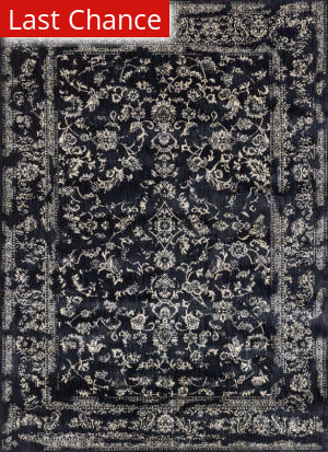 Rugstudio Sample Sale 141152R Black - Ivory Area Rug