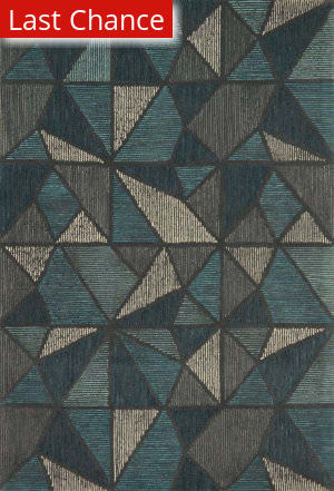 Rugstudio Sample Sale 163011R Teal - Grey Area Rug