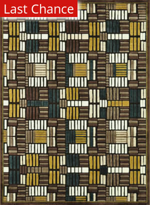 Loloi Halton HL-04 Brown - Teal Area Rug
