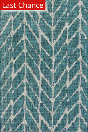 Rugstudio Sample Sale 146387R Teal - Grey Area Rug