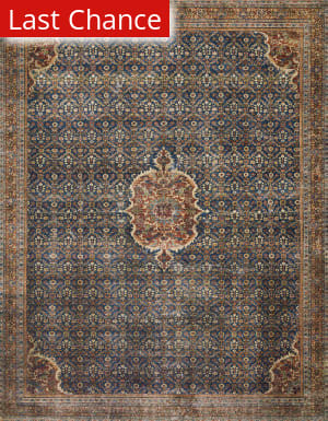 Rugstudio Sample Sale 199640R Cobalt Blue - Spice Area Rug