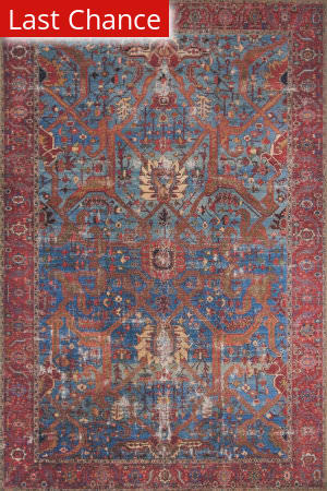 Rugstudio Sample Sale 175497R Blue - Red Area Rug