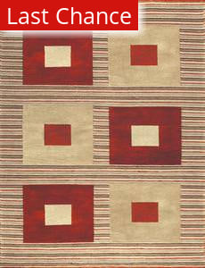 Rugstudio Famous Maker 39483 Red-Gold Area Rug