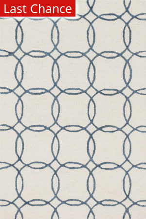 Rugstudio Sample Sale 125736R Ivory - Blue Area Rug