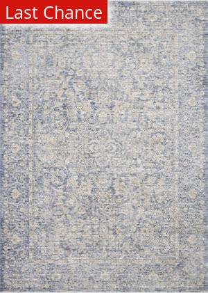 Rugstudio Sample Sale 193502R Blue - Gold Area Rug