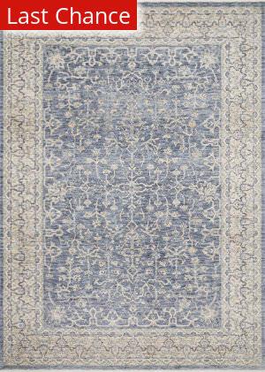Rugstudio Sample Sale 193506R Dark Blue - Ivory Area Rug