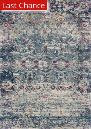 Rugstudio Sample Sale 186175R Teal - Indigo Area Rug