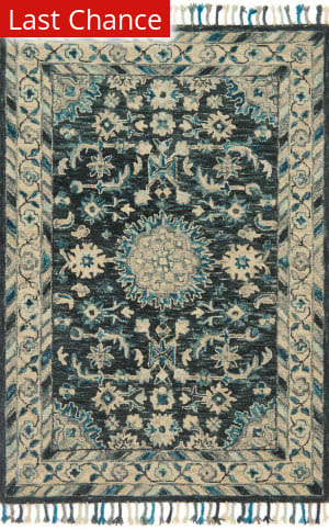 Rugstudio Sample Sale 167394R Teal - Grey Area Rug