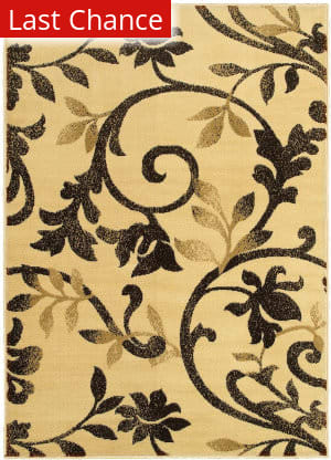 Lr Resources Grace 81134 Ivory - Brown Area Rug