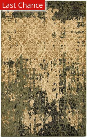 Lr Resources Matrix 81196 Ivory - Dark Green Area Rug