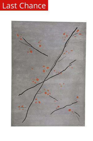 Rugstudio Sample Sale 59313R Grey/Orange Area Rug