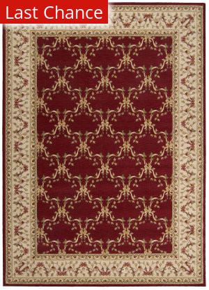 Rugstudio Sample Sale 22892R Burgundy Area Rug